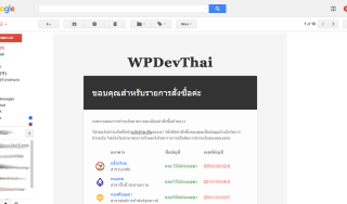 WPDevThai payment email